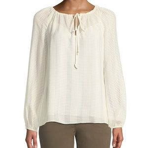 Tory Burch Natalie Silk Blouse